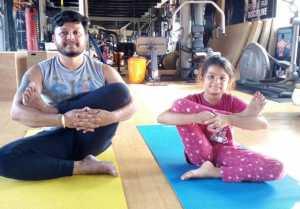 International Yoga Day 2018  : ಅಂತಾರಾಷ್ಟ್ರೀಯ ಯೋಗ ದಿನದಂದು ಗಣೇಶ್ ಪುತ್ರಿ ಯೋಗ...!!