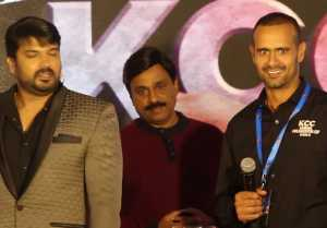Kannada Chalanachitra cup 2018 : ಕಿಚ್ಚನ ಡೈಲಾಗ್ ಹೇಳಿದ ಇಂಗ್ಲೆಂಡ್ ನ ಕ್ರಿಕೆಟಿಗ