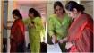 KSRTC ಬಸ್ಸಿನಲ್ಲಿ ನಿರ್ಮಾಣವಾದ ವಿಶೇಷ ಸ್ತ್ರೀ ಶೌಚಾಲಯ ಪರಿಶೀಲಿಸಿದ ನಟಿ ಶ್ರುತಿ