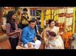 In Pics Dhruva Sarja And Tara Shoots For Bharjari