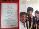 Ap Arjun S Special Quotes For Yash Radhika Pandit Wedding Card