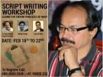Nagathalli Chandrashekhar Will Conduct Workshop On Script Writing