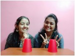 Divya And Raksha Invented New Cup Song Trend In Kannada