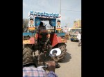 Sunny Leone Name On Tractor