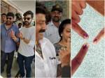 Telugu Film Stars Cast Their Vote