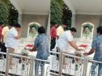 Tamil Actor Prabhu Visit To Dr Rajkumar Memorial At Bangalore