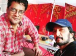 Kannada Actor Ravi Shankar Meets Sudeep In Hyderabad At Kotigobba 3 Shooting Set