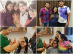 Srujan Lokesh Family And Maja Talkies Team Visited To Shwetha Changappa House