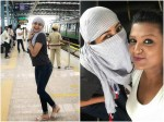 Actress Rachita Ram Travels In Bengaluru Metro