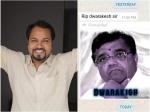 ದ್ವಾರಕೀಶ್ ಆರೋಗ್ಯದ ಸ್ಥಿತಿ ಬಗ್ಗೆ ಸುಳ್ಳು ಸುದ್ದಿ- ಫಿಲ್ಮಿಬೀಟ್ ಗೆ ನಿರ್ದೇಶಕ ಚೈತನ್ಯ ಸ್ಪಷ್ಟನೆ
