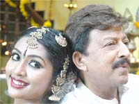 Navya Nair and Vishnuvardhan in Nam Yejamanru