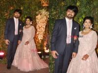 In Pics Chiranjeevi S Daughter Srija Kalyan Wedding Reception