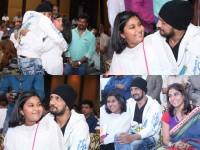 In Pics Sudeep With Priya Daughter Sanvi In Jigar Thanda Audio Release