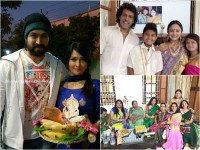 In Pics Yash And Upendra Family Celebrities Sankranti