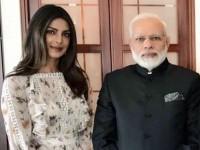 In Pic Priyanka Chopra Meets Narendra Modi