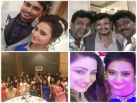 In Pics Celebrities At Amulya And Jagadish Wedding Party