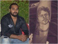 Hardcore Fan Arjun Janya Gets Tattooed