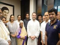 Rahul Gandhi Visits Dr Rajkumar S House In Bengaluru