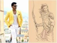 Nikhil Kumar Look In Kurukshetra Movie