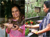 In Pics Jaggesh Wife Parimala Jaggesh Spending Time With Wild Animals In Malaysia