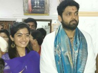 Rakshit Shetty And Rashmika Mandanna Visited Mantralaya Temple