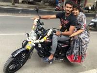 In Pic Manoranjan Ravichandran S Bike Ride With His Mother