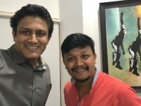 In Pic Anil Kumble And Ganesh S Selfie