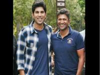Puneeth Rajkumar Visit To Allu Sirish Movie Shooting Set