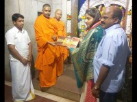Actress Rachita Ram Visited The Dasarighatta Temple In Tumkur