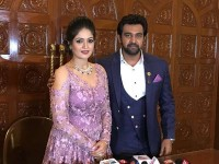 Chiranjeevi Sarja Meghana Raj Shares Their Engagement Video On Valentines Day
