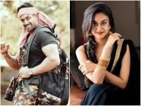Aishwarya Arjun And Dhruva Sarja Shared Screen Space In Prema Baraha Song