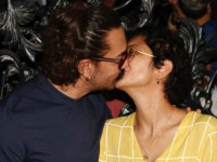 Aamir Khans Lip Lock With Wife Kiran Rao On His Birthday