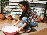 Radhika Pandit Kept Water Bowls For Birds On The Rooftop To Save Birds From Summer