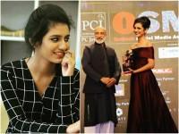Actress Priya Varrier Bags Her First Award