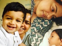 In Pic Sameera Reddys Son Turns 3 Years Old