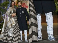 Anand Ahuja Trolled For Wearing Sports Shoes At Wedding Reception
