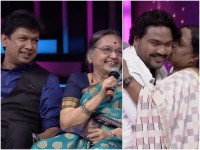 Vijay Prakash Arjun Janyas Mother Visited Sarigamapa Season 14 Set