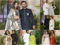 Stars Spotted At Sonam Kapoors Reception