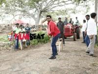 Nikhil Kumar Played Cricket In Seetharama Kalyana Movie Set