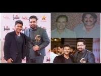 Tarun Sudhir And Puneeth Rajkumar Aged Filmfare Award Together