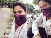 Haripriya Enjoys Riding Cycle