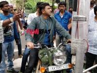 In Pic Puneeth Rajkumar Rides Royal Enfield For Nata Sarvabhauma