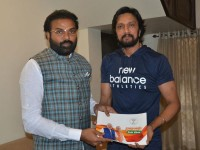 Bjps Sampark Samarthan Sriramulu Meets Sudeep