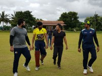 Kiccha Sudeep And Ganesh Start Cricket Practice