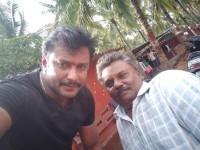 Actor Darshan Met His Handicapped Fan