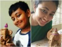 Actor Darshan Son Vineesh Made Eco Friendly Ganesha