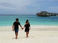 In Pic Kannada Actress Radhika Pandit And Yash In Maldives For Babymoon