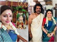 Upendra And Priyanka Upendra Celebrated Ganesh Chaturthi Festival