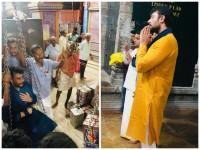 Kannada Actor Darshan Visits Surya Bhagvan Temple In Tamil Nadu