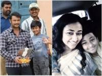Actor Darshan Son Vineesh Calibrating His 10th Birthday